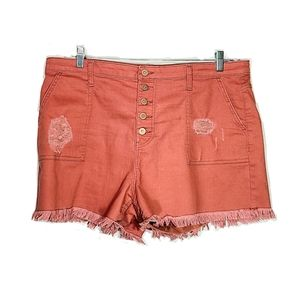 NOBO | Distressed High Rise Shorts Size 21